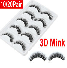 20Pair 3D Mink Natural Thick False Fake Eyelashes Eye Lashes Makeup Extension