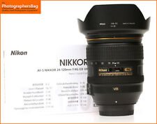 Nikon Af-s 24-120mm f4 G Ed Vr Zoom Lente de enfoque automático Free UK Post