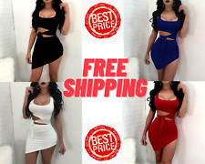 Fashion Women Sexy Hypotenuse Dress Hollow Out High Waist Package Hip Dress 2021