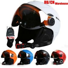 Men Half-Covered Ski Helmet Integrally-Molded Sports Snowboard With Goggles Cove