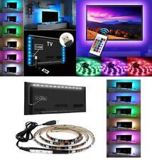 KIT TV STRISCIA STRIP LED USB RGB 5V PER RETROILLUMINAZIONE 2Mt 3 Mt 5Mt