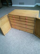 More details for engineers toolmaker cabinet,  collecting  hobby,  sewing box,  cabinet