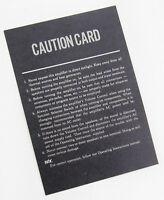Vintage McIntosh Amplifier Caution Card