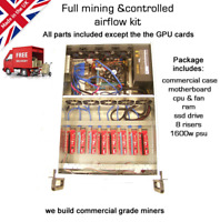 8GPU Mining Rig  ETH BTC Ethereum FULL KIT WINDOWS 10 Merged mining compatible
