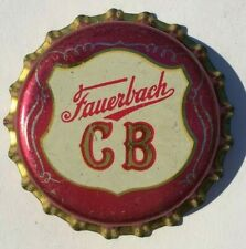 FAUERBACH CB BEER BOTTLE CAP 1955-66; MADISON, WISCONSIN; UNUSED CORK