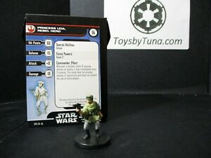 Star Wars Miniatures Princess Leia, Rebel Hero Reb & Imperials w/ Card mini RPG