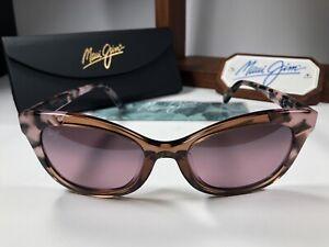 Maui Jim ILIMA MJ 759-64 Pink Tokyo Tortoise  Sunglasses W/Maui Rose Polarized
