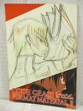 CODE GEASS Lelouch of Rebelion Format Material II 2 Art Book Booklet Ltd *