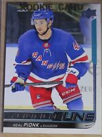 2018-19  UPPER DECK Serie 1, #212 Neal PIONK, YOUNG GUNS, Rangers