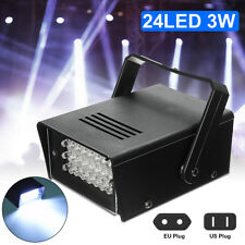 24 White LEDs Strobe Light DJ Disco Operated Party Stage Effect Lights Lighting