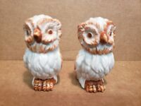 Vintage Mid Century Ceramic Owl  Salt & Pepper Shakers