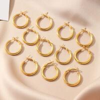 AM_ 12Pcs/Set Women Circle Dangle Hoop Earrings Piercing Party Jewelry accessory