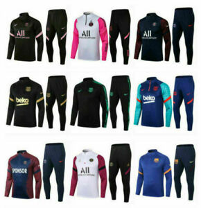 New Adult Mens Football Survetement Training Suit Tops & Bottoms Sports Outfits
