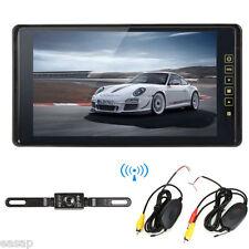 "9"" Car Rear View Mirror Monitor+ Wireless Backup Reverse Night Vision Camera Kit"