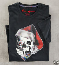Robert Graham Santa Skull Hat T-Shirt - Cotton Black 3XL XXXL $98 New