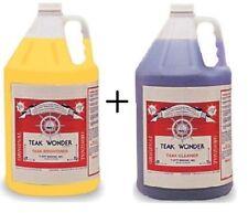 Teak Wonder Combo Pack: 4 lt di Teak Cleaner + 4 lt di Teak Brightener