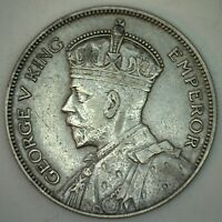 1935 New Zealand Silver 1/2 Half Crown Coin XF Extra Fine 1/2 Crown Coin