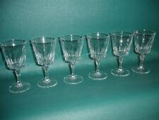 6 verres à VIN apéritif VERSAILLES Cristal d'Arques