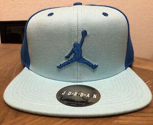 Vintage Michael Jordan Snapback Hat Blue Baby Carolina New w/ Tags Jumpman Shoes