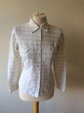 Women's Classic Collar Check Cotton Hip Length Tops & Shirts