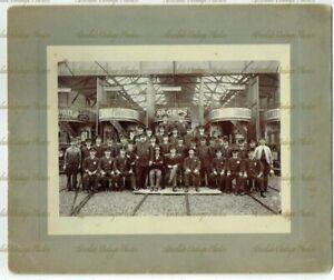 OLD PHOTO PETERBOROUGH TRAMWAYS TRAMS & STAFF DAVIS PHOTOGRAPHER VINTAGE C.1903