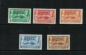 Barbados: 1939, Tercentenary of General Assembly, Mint set