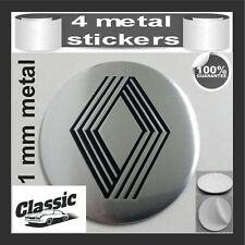 METAL STICKERS WHEELS CENTER CAPS Centro LLantas 4pcs Classic RENAULT 11