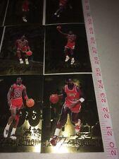 12 Card Michael Jordon Upper Deck Rare Foil Set