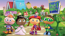 SUPER WHY Edible Birthday Cake Topper Frosting Icing 1/4 Sheet