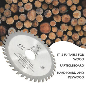 115mm 40T Circular Wood Saw Blades Discs Plunge Cutting Angle Grinder Tools UK
