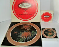 Vintage Set Of 6 Pimpernel Acrylic Rounds Placemats and 6 Coaster Set In Box!