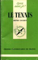 Livre le tennis Henri Cochet Presses Universitaires de France 1981 book
