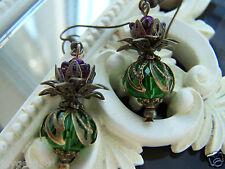 Lucky Scottish Thistle Earrings - Bridal Burns Night Wedding Flowers