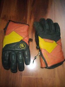 Super Rare & Vintage Volcom Gore Tex Leather Snowboarding Ski Gloves Mens Size M