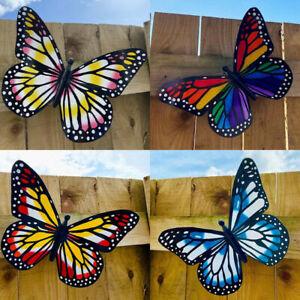 Set of 1/4 Multi-coloured Acrylic Butterflies Garden/Home Wall Art Ornament