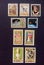 Fujeira stamps-UAE stamps- x9 - 1970's- apollo13 apollo14 European dress art
