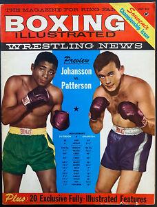 1960 Boxing Illustrated Magazine July Issue Wrestling News Johansson v Patterson