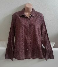 EDDIE BAUER size XL approx 20+ BNWOT Cotton Long Sleeved Shirt/Blouse in Purple