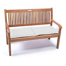 Nuovo cuscino giardino per panca a 2 posti idrorepellente e sfoderabile 110 x 42