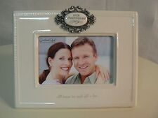 Amscan Grasslands Road OUR ANNIVERSARY Photo Frame 4x6 NEW in box Ceramic