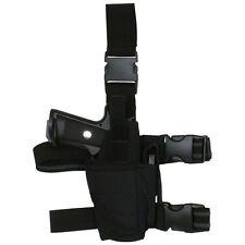 RIGHT HAND Tactical Light / Laser Leg Thigh Gun Holster - SWAT BLACK