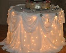 400 WEDDING Party White Wire Bulb Lights RECEPTION Shower NEW  -- 4 Sets of 100