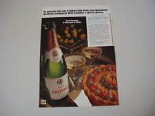 advertising Pubblicità 1975 SPUMANTE ASTI CINZANO