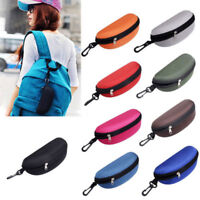 Easy Portable Zipper Eye Glasses Sunglasses Clam Shell Hard Case Protector t
