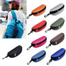 New Easy Portable Zipper Eyes Glasses Sunglasses Clam Shell Hard Case Protector