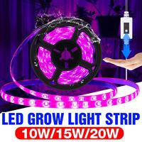 Waterproof LED Grow Light Strip Full Spectrum Lamp for Indoor Plant Veg Flower