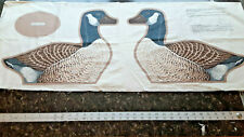 VINTAGE Wild Bird Collection CANADA GOOSE Cotton Fabric Panel