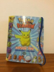 Pokemon Stadium 3D Action Cards COMPLETE WITH ALBUM COLLECTOR's RECORD