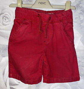 Boys Age 2-3 Years - Red Pull On Shorts