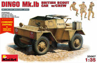 Miniart 35067 -1/35 scale Daimler Dingo MK1B British Scout Armored Car and Crew